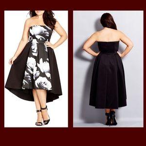 City chic hi low dress